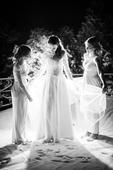 Pohádkové svatební šaty s dlouhým rukávem, 38