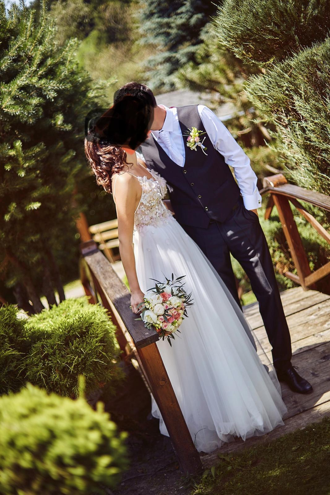 Romantické svadobné šaty - Bright Azalea, 38/40 - Obrázok č. 1
