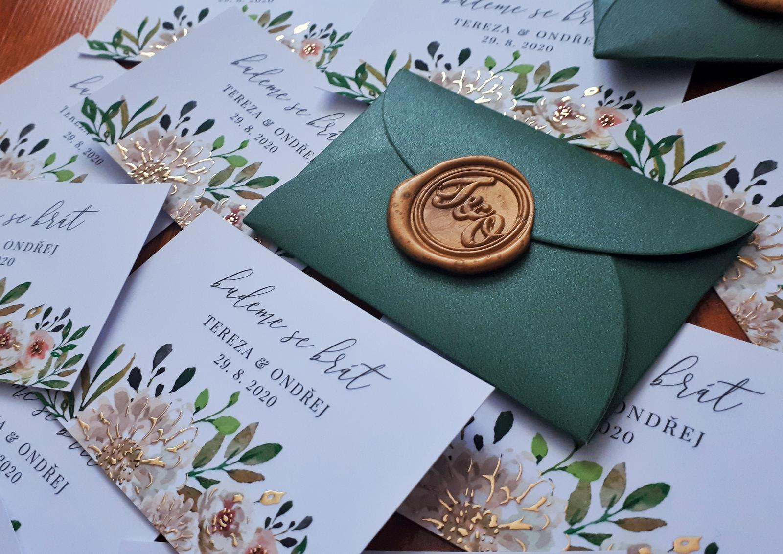 Zelené mini obálky - Obrázek č. 1