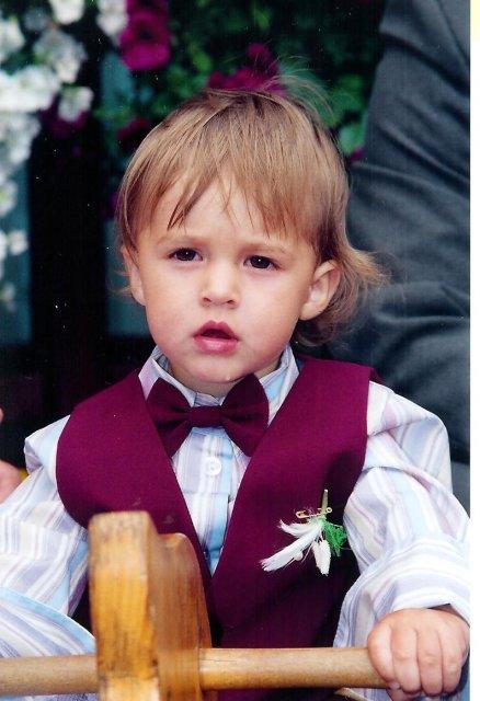 Nase krstniatko Tibko, mal na svadbe 1rok a 1mesiac.