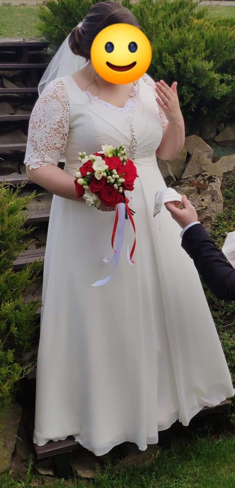 Svadobné šaty (44-46) - Obrázok č. 2
