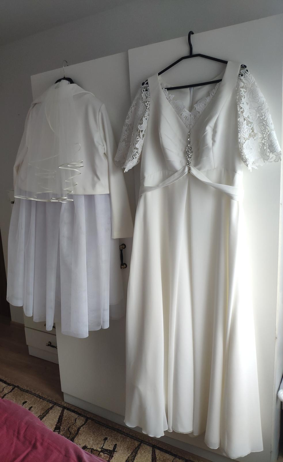 Svadobné šaty (44-46) - Obrázok č. 4