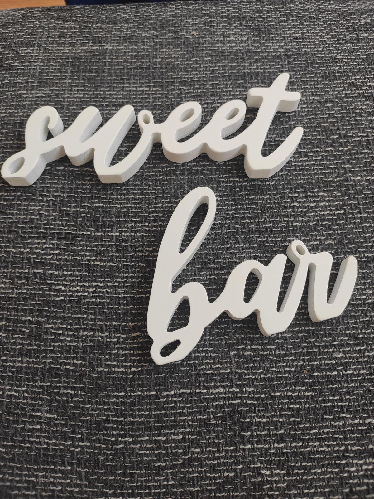 Cedulka na Sweet Bar - Obrázek č. 1