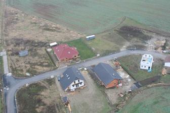 letecký pohled na náš dům
