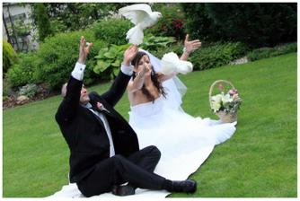 A este jedna z mojich oblubenych, holubky su pozicane od suseda, mladomanzelia su nase najdrahsie deti