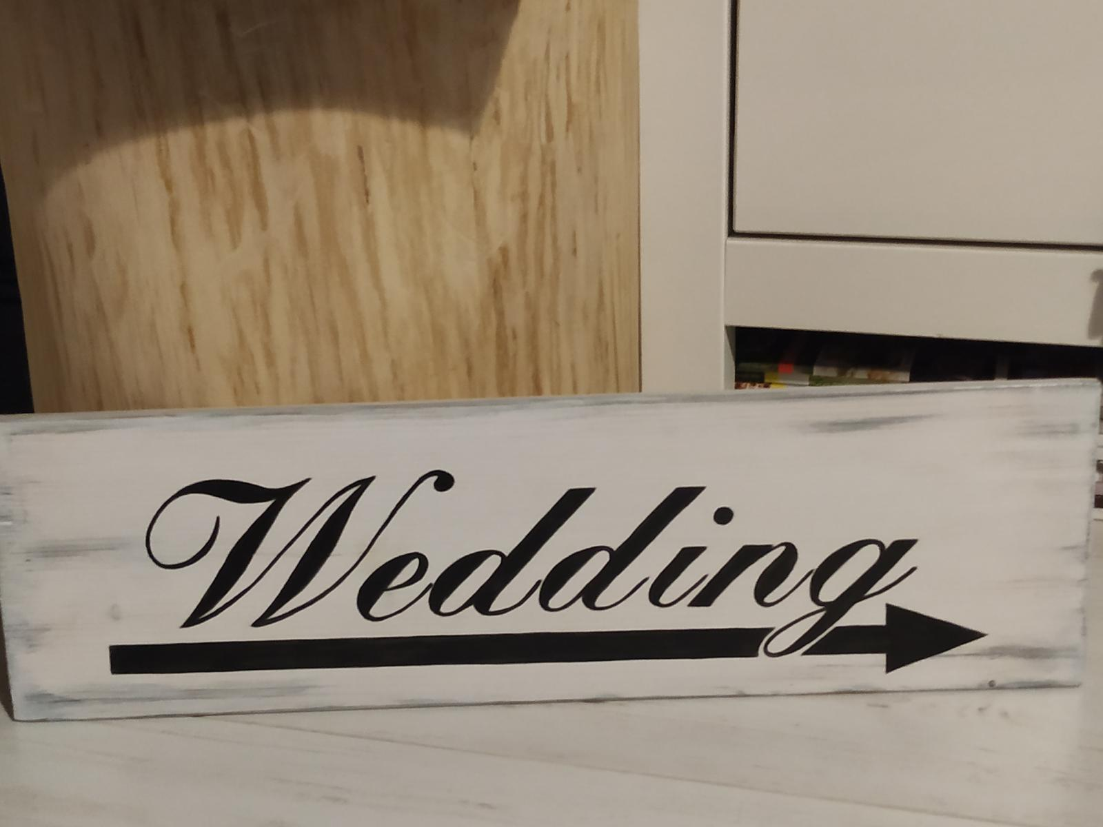 Směrovka Wedding - Obrázek č. 1