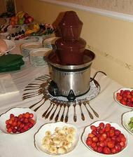 čokoládová fontánka taky bude