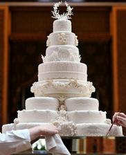 Katie a William svadobna torta