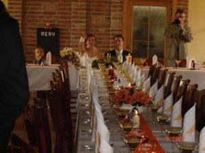 náš svatební stůl