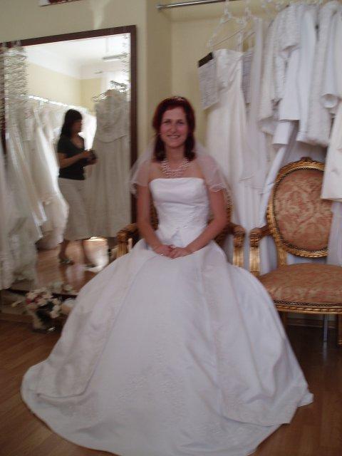 Náš velký den - zkouska šatů - týden před svatbou