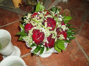 kytička nevěsty - ještě rok po svatbě krásně drží usušená