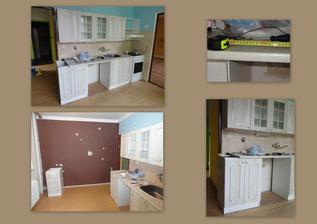 den 2 - na novou kuchyň zatím nemáme finance... takže zkoušíme udělat místo na myčku