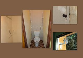 den 5 - příprava záchodu na nástřik, v koupelně připojení bojleru a už přijímáme signál :o)