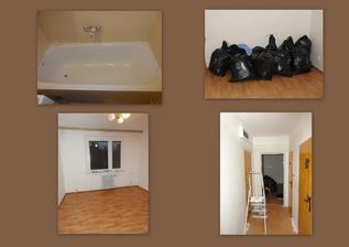 den 7 - místnosti na hotovo, malování chodby, renovace vany a pomalu stěhujeme věci