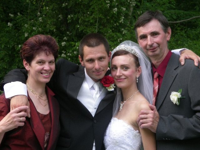 Blanka{{_AND_}}Mirko - s Mirkovymi rodicmi- uz aj mojimi
