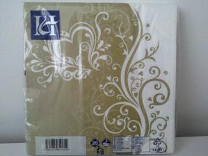 ... dnes dorazili aj tieto krásne zlato-biele servítky...
