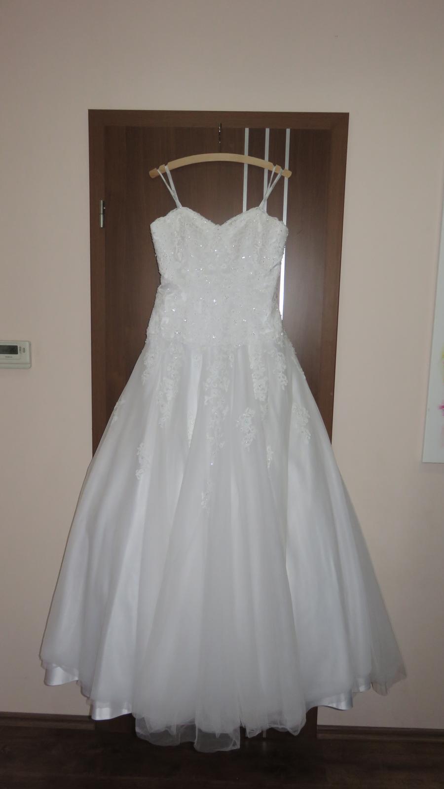 Svadobné šaty Colette šnúrovacie 44/46 - Obrázok č. 1