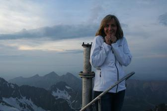 najvyššie miesto na streche - dosť som sa bála, bolo to labilné...