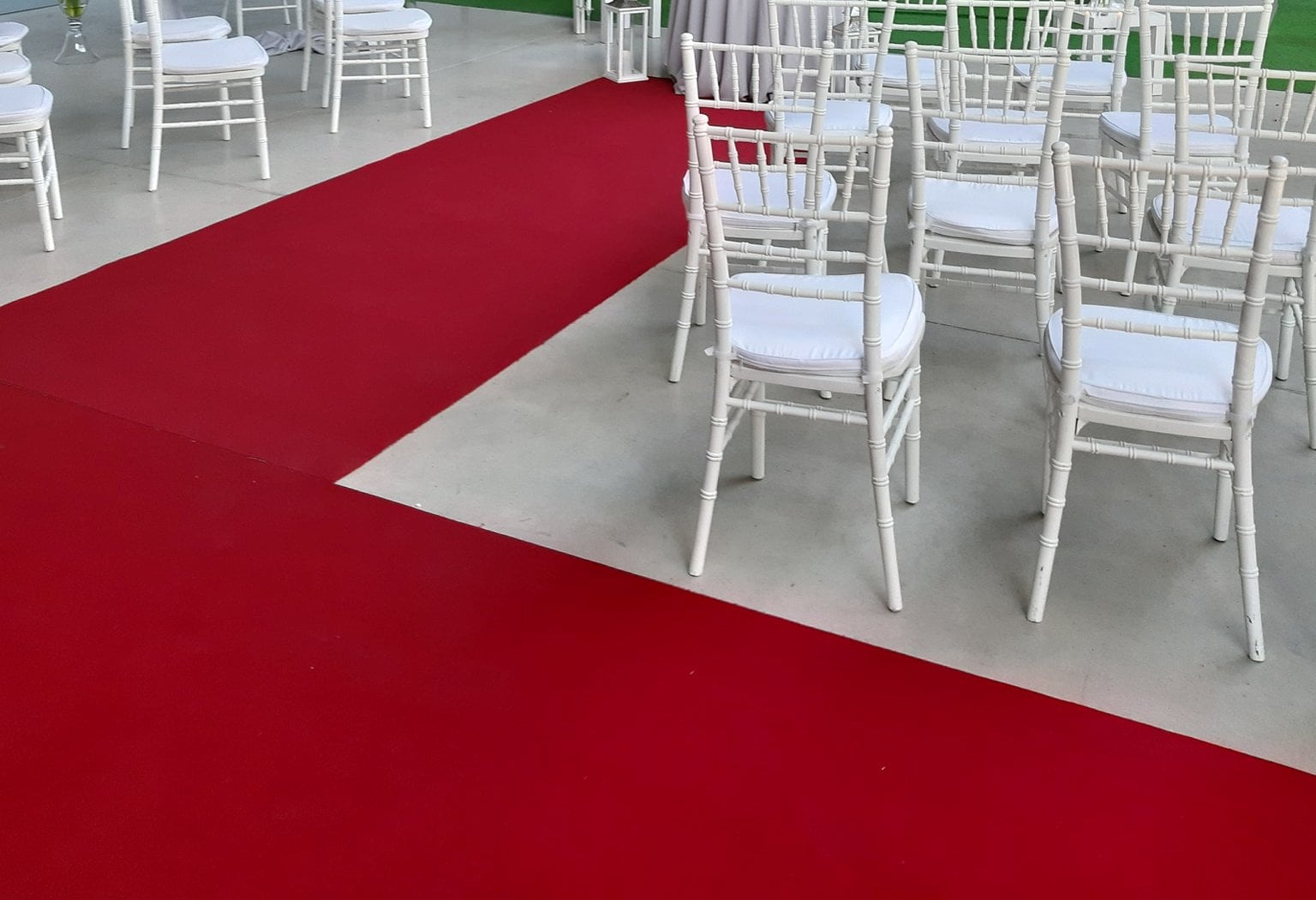 červený svadobný koberec - Obrázok č. 1