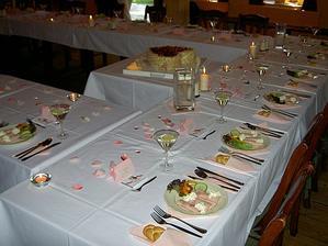 krásně jednduchá svatební tabule