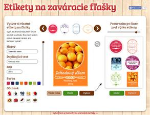 Ahojte mamičky, tu si môžete vytvoriť a vytlačiť krásne etikety na svoje zaváraniny http://casprezeny.azet.sk/etikety-na-zavaranie