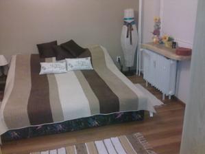 nový prehoz na starej posteli..už aby bola nová...to bude zase radosti.. :)