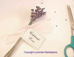 Jednoduchý svazeček by mohl být položený na stole s klecí na přání (moc hezká cedulka)
