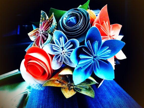 Papierové kytice :) - Obrázok č. 12
