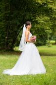 svatební šaty vel. 34-36 + závoj zdarma, 34