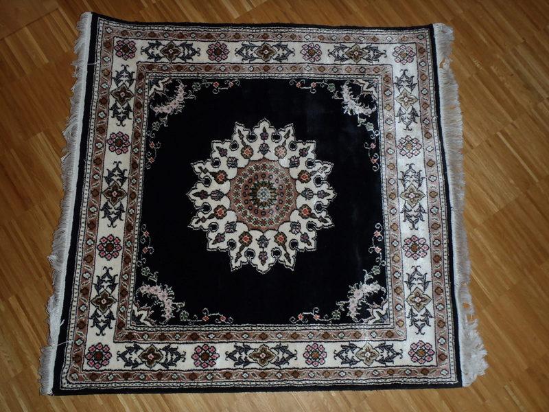Turecký ručne tkaný, pravý kvalitný koberec, 91x92 - Obrázok č. 1
