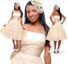 Šaty (krajka) ve stylu 50s  (ivory) $198 = 3591 Kč