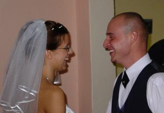 vychlamaný ženich a nevěsta:-)