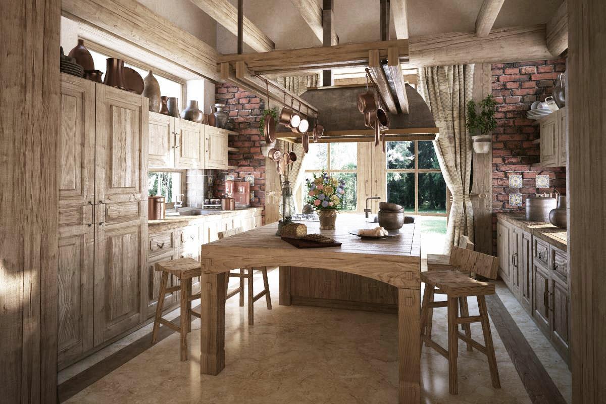 Rustikàlna kuchyňa, to je teplo domova - Obrázok č. 37