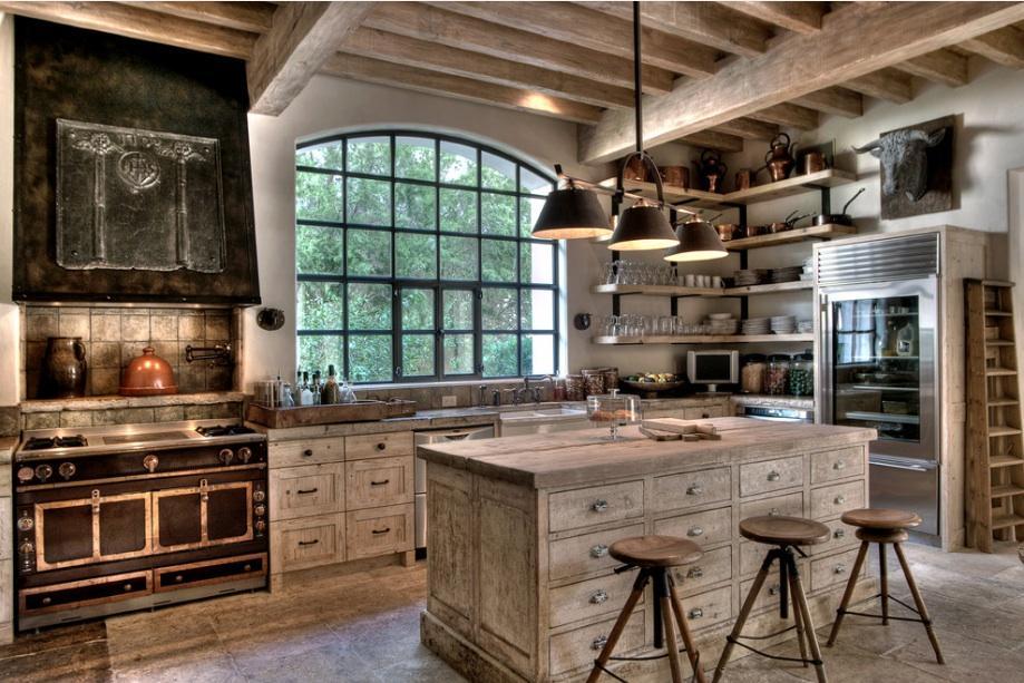 Rustikàlna kuchyňa, to je teplo domova - Tomu sa povie dokonala kombinacia :)