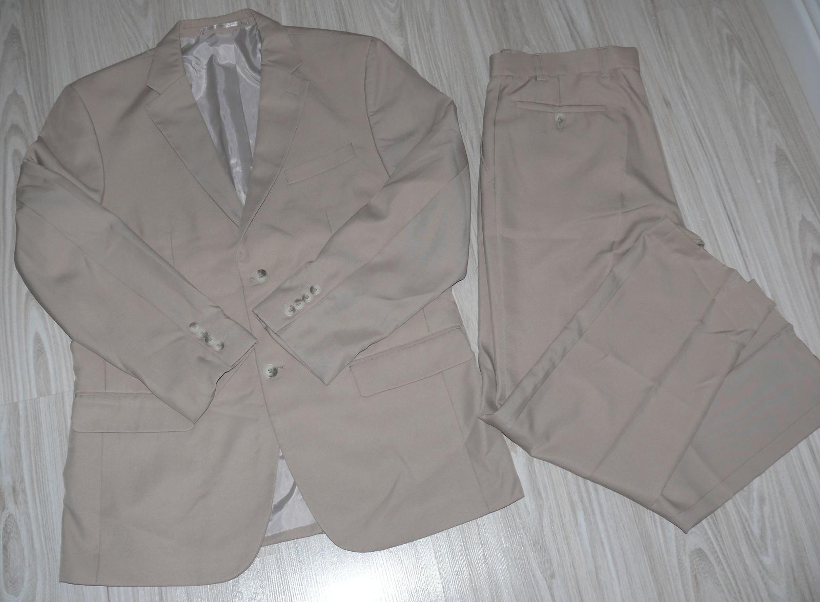 Béžovy pánsky oblek - Obrázok č. 1