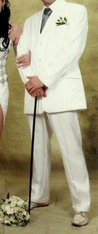 Biely kvalitny svadobny oblek - Obrázok č. 1