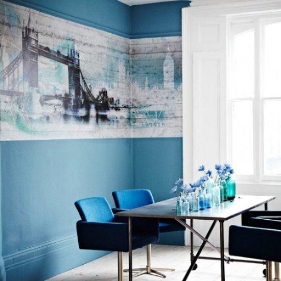 Modrá, kam sa pozrieš - stále decentne a vkusne - Obrázok č. 1