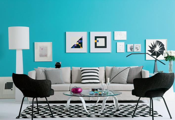 Modrá, kam sa pozrieš - stále decentne a vkusne - Obrázok č. 29