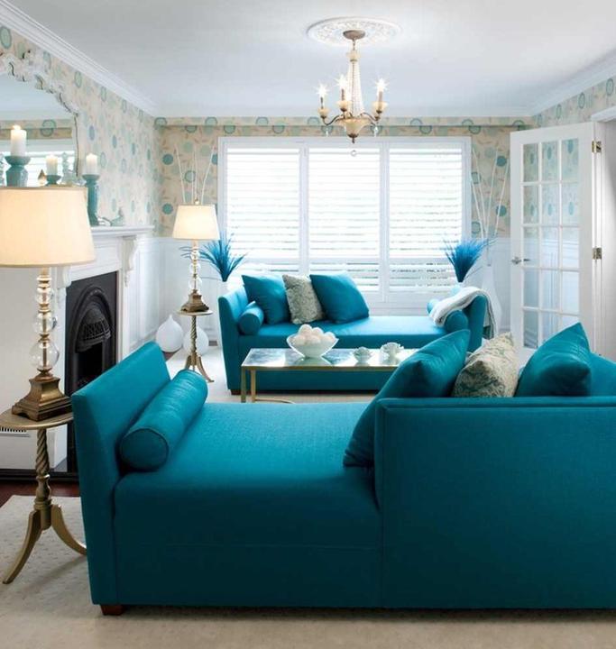 Modrá, kam sa pozrieš - stále decentne a vkusne - Obrázok č. 57