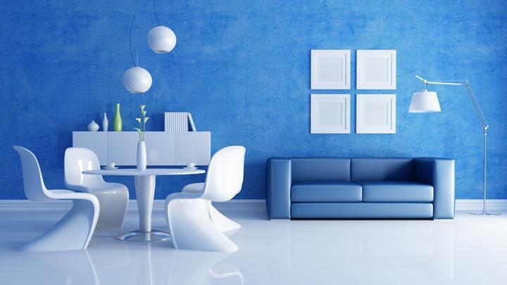 Modrá, kam sa pozrieš - stále decentne a vkusne - Obrázok č. 63