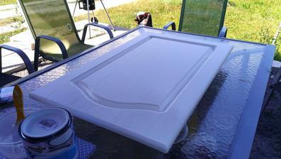 hádam už posledné maľovanie - konečne mi prišli aj dvierka na myčku...