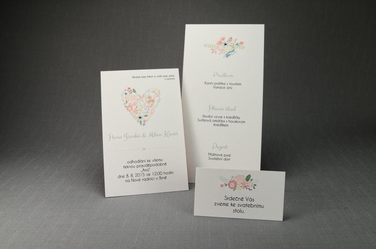 Nová kolekce! Oboustranné oznámení - Svatební oznámení O_011