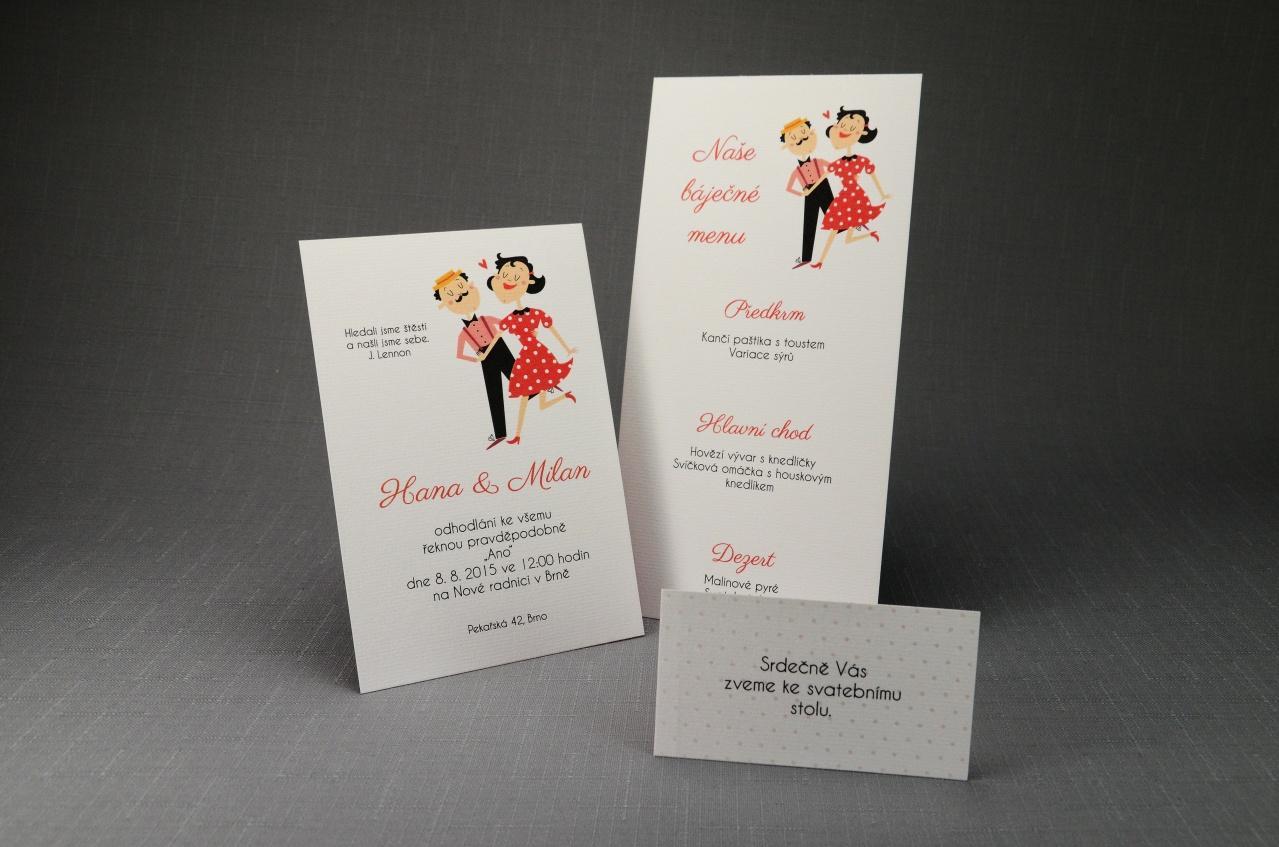 Nová kolekce! Oboustranné oznámení - Svatební oznámení O_008