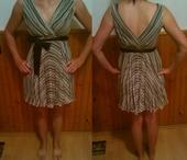 Krátke čierno-biele šaty, 34