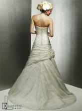 moje svadobné šaty zo zadu