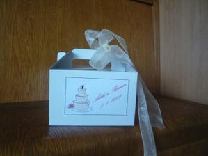 krabičky na svatební výslužky