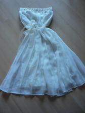 šaty na převlečení- barva ivory s champagne perličkami