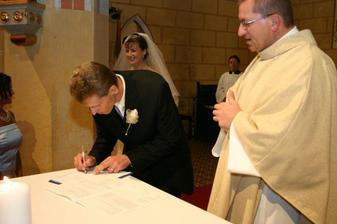 Podpis ženícha
