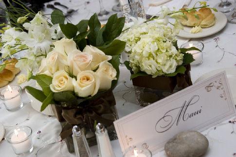 Suzi a neno - kvety na stole
