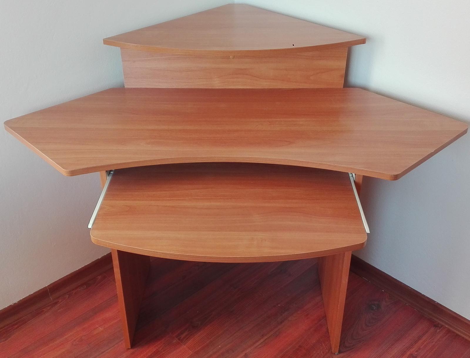 Rohový PC stôl - Obrázok č. 2